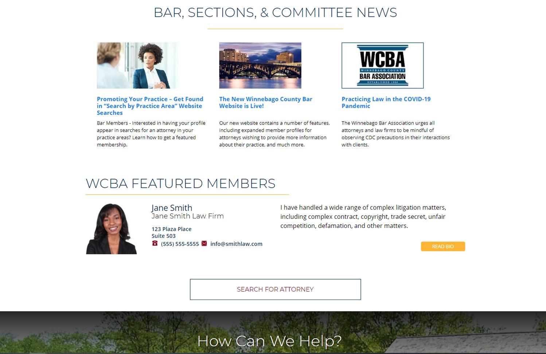 Regular member on homepage sample